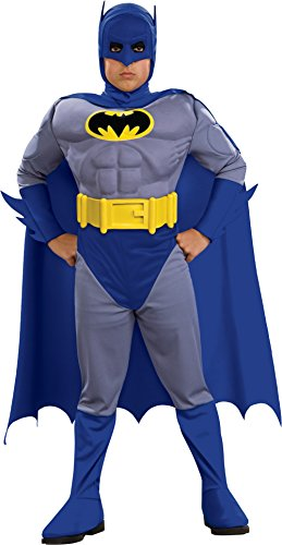[Rubie's 883418S Batman Deluxe Muscle Chest Batman Child's Costume, Small, Blue  (Discontinued by manufacturer)] (Halloween For Kids Costumes)