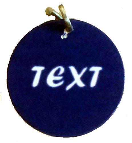 Anhänger fürs Halsband - Halsbandanhänger - Katzenmarke - viele Farben, Wunschtext personalisiert 25mm extra leicht