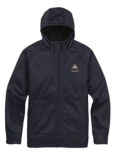 Burton Men's Bonded Full-Zip Hoodie, Mood Indigo Heather, (Burton Mens Hood Jacket)