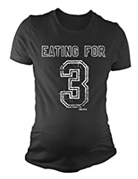 Ladies MATERNITY T-Shirt Eating For 3 Twins Funny Baby Pregnancy Gift By BritTot