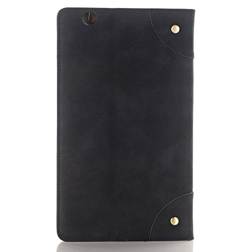 Slot Card Leather for and Folding Mediapad Thin Auto 8 Magnetic Stent Leather Huawei Case Wake Business 4 PU Splice M3 Inch Ultra Cover LMFULM Function Sleep Closure of Function 1 Black Design Bookstyle ZF5nwpq6