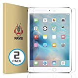 [2-Pack] iPad iPad 5 iPad 6 iPad 7 iPad Air iPad Air 2 iPad Pro 9.7 inch Screen Protector - Manto Premium Tempered Glass Screen Protector Film Compatible with iPad Pro 9.7 inch Models
