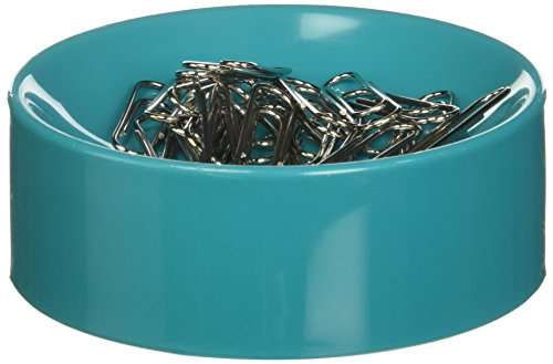 Turquoise Clipwell Magnetic Paper Clip Holder