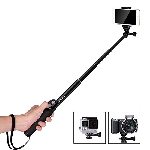 """Luxebell Selfie Stick Handheld Monopod 40.5"""" with Bluetooth Shutter for Smartphone, GoPro Hero 1 2 3 3+ 4 and Most..."""
