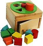 Toys of Wood Oxford Boîte en bois avec formes et roue