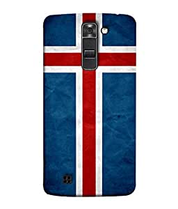 ColorKing Football Iceland 01 Blue shell case cover for LG K10