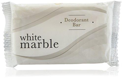 White Marble Individually Wrapped Deodorant Bar Soap, White, 1.5oz Bar, 500/Carton