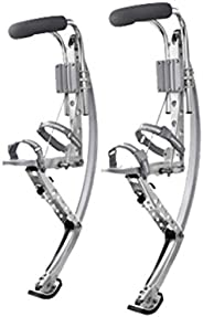 (silver) - Skyrunner Adult Kangaroo Shoes Jumping Stilts Fitness Exercise (200-242lbs/90 110kg) Bouncing Shoes