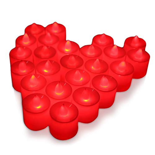 Freehawk 24PCS LED Tea Light Candles, Battery Operated