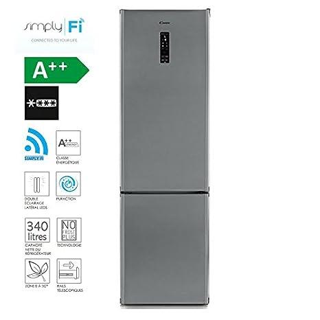 Candy cn204 X PU WiFi nevera y congelador 195 x 60 cm/340 L/No ...