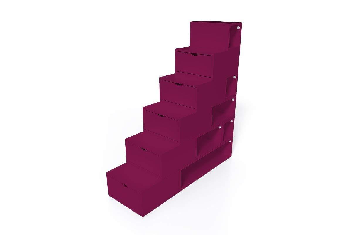 Escalera Cubo para Guardar Cosas 150 cm MDF ecol/ógico ABC MEUBLES ESCM150 Chocolate
