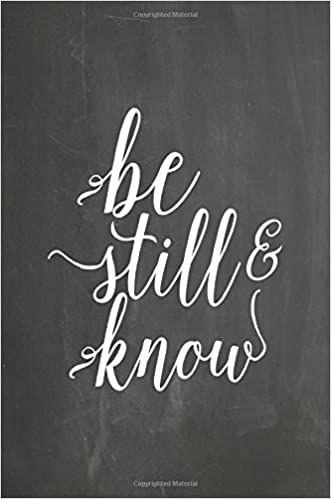 chalkboard journal be still know 100 page 6 x 9 ruled