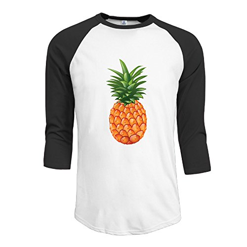 3-4-sleeve-men-funny-pineapple-baseball-shirts