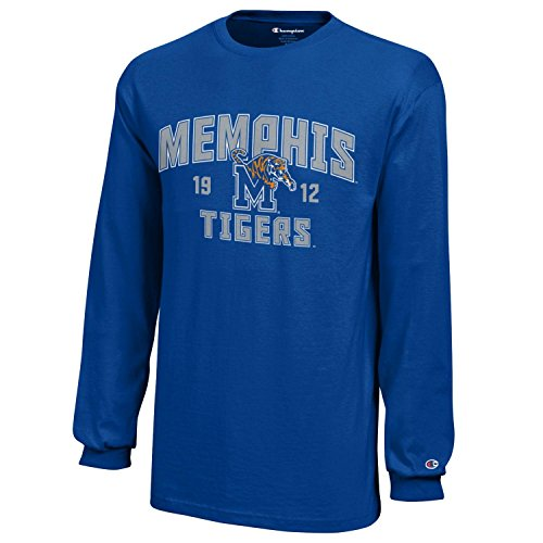 Champion NCAA Memphis Tigers Youth Boys Long Sleeve Jersey T-Shirt, Medium, Royal Blue ()