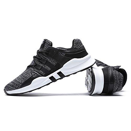 TUOKING Atléticos Zapatos Para con Respirables Gris Zapatillas Ligeros Resistentes Cordones Caminar Deportivos de Zapatos Ocasionales Para Zapatos Deporte Hombres rfCrO1P