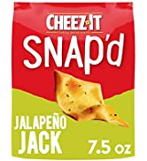 Cheez-It Snap'd, Cheesy Baked Snacks, Jalapeno Jack, 7.5 Ounce (Pack of 6)