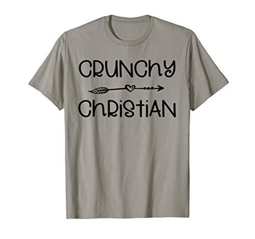 Crunchy Christian Shirt Organic Cross Jesus Religious Gift T-Shirt