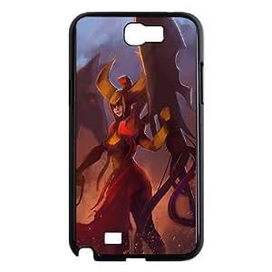 Defense Of The Ancients Dota 2 LEGION COMMANDER Samsung Galaxy N2 7100 Cell Phone Case Black ASD3846334