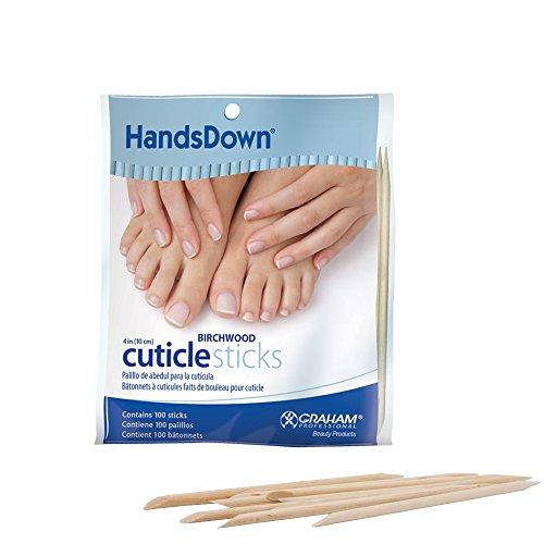 - Graham Handsdown Birchwood Cuticle Sticks, 4 Inch