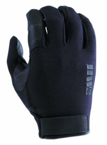 HWI Gear Spandex Knit and Goatskin Leather Glove, Medium, Black