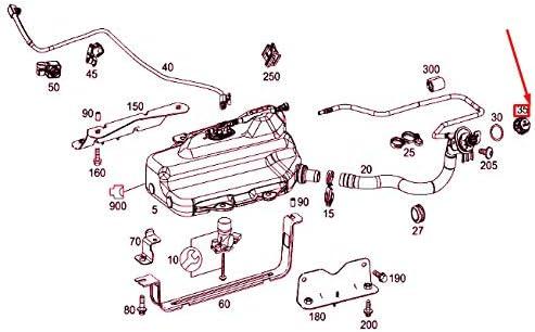 Tappo per serbatoio carburante A000470610564 MB VITO W447 AD