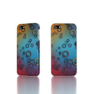 Apple iPhone 4 / 4S Case - The Best 3D Full Wrap iPhone Case - Colorful Rings