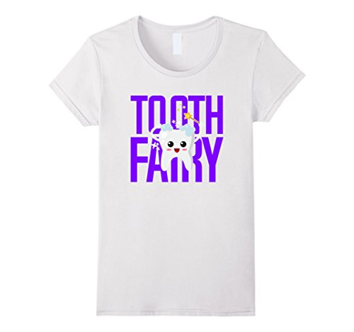 Womens Tooth Fairy Shirts for Kids Men and Women Medium White - Tooth Fairy Adult Costumes