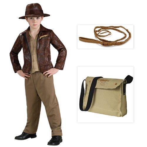 Jones Deluxe Costumes (Indiana Jones Deluxe Indiana Child Costume including Whip and Satchel - Medium)