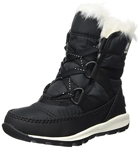 SOREL - Youth Unisex Little Whitney Short Lace Non Shell Boot, Size: 8 M US Toddler, Color: Black/Sea Salt by SOREL