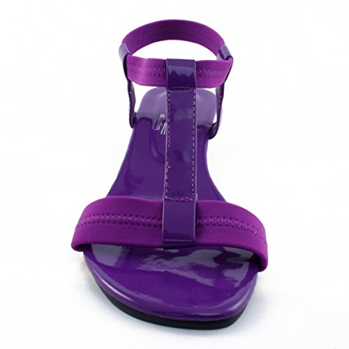 Agape Image-69 Sandalo Con Zeppa T-strap Viola