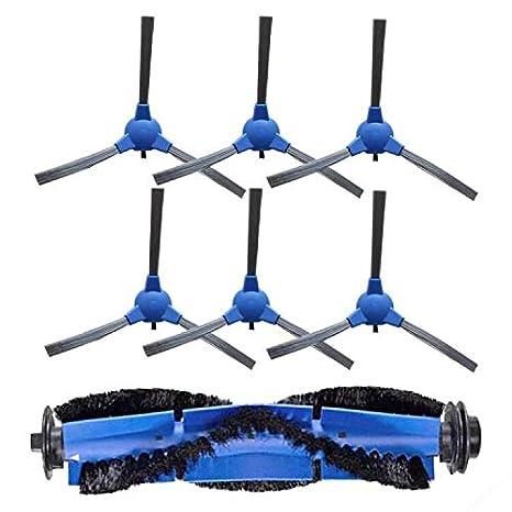 Kit Accesorios de Recambio para Cecotec Conga Excellence 1390 Robot Aspiradora, Material Premium, Pack Familiar de 6 Cepillos Laterales + 1 Cepillo ...