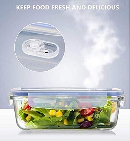 Amazon.com: Contenedor de almacenamiento de vidrio para ...