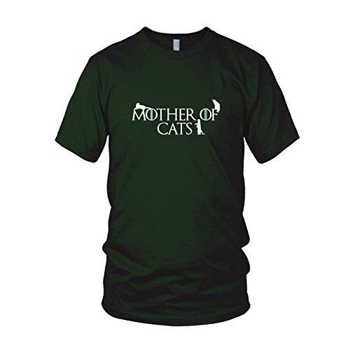 Mother of Cats - Herren T-Shirt, Größe: XL, Farbe: dunkelgrün