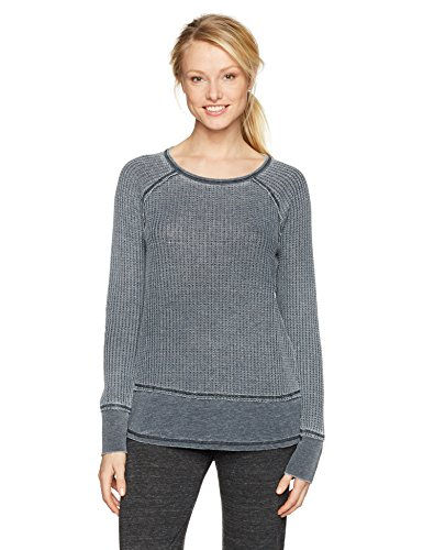 PJ Salvage Women's Washed Waffle Thermal Top, Slate, (Salvage Thermal)