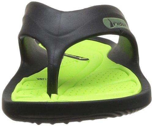 Raider Cape V - Chanclas para niño, color negro / verde