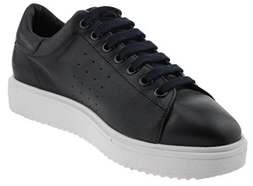 Mango 623 Sneaker Leder Schwarz Weiss