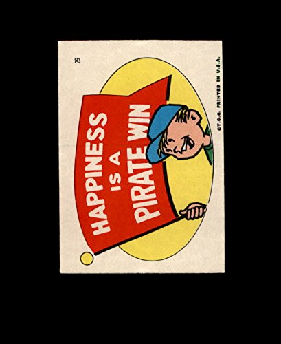 1967 Topps Pirates Stickers Baseball Card 29 Happiness Is A