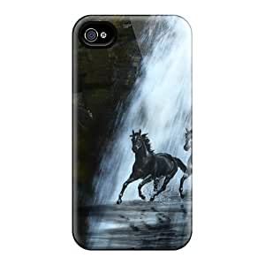 Fashionable Style Case Cover Skin For Iphone 4/4s- Ghost Horse Series #11