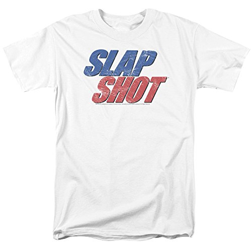 Trevco Men's Slap Shot Short Sleeve T-Shirt, White, XX-Large