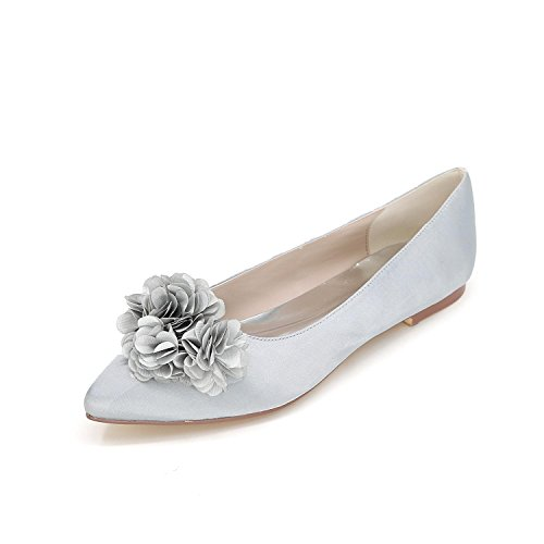 L@YC Zapatos De La Boda De La Mujer Zapatos Planos De La Boda Zapatos De La Boda / Del Partido Y De La Boda MáS Colores Silver