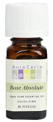 Aura Cacia Essential Oil, Equalizing Rose Absolute, 0.125 fluid ounce by Aura Cacia