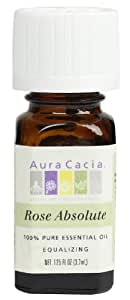 Aura Cacia Essential Oil, Equalizing Rose Absolute, 0.125 fluid ounce