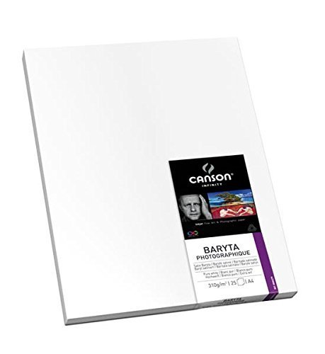 CANSON 310g Infinity Baryta Photographique Art Paper, 17 x 22'', 25 Sheets by Canson Inc. by Canson Inc.