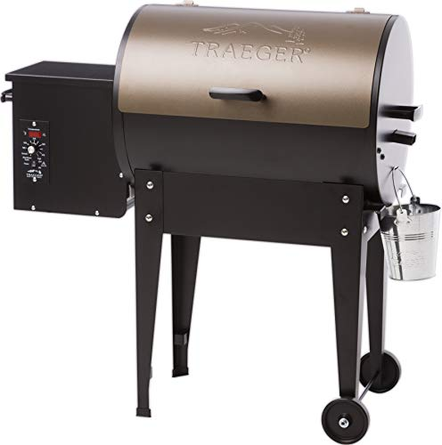 Traeger TFB29LZA Junior Elite Wood Pellet Grill and Smoker - Grill, Smoke, Bake, Roast, Braise, and BBQ (Bronze)