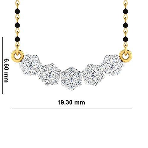 Libertini Colliar argent 925 plaque or Jaune serti de Diamant