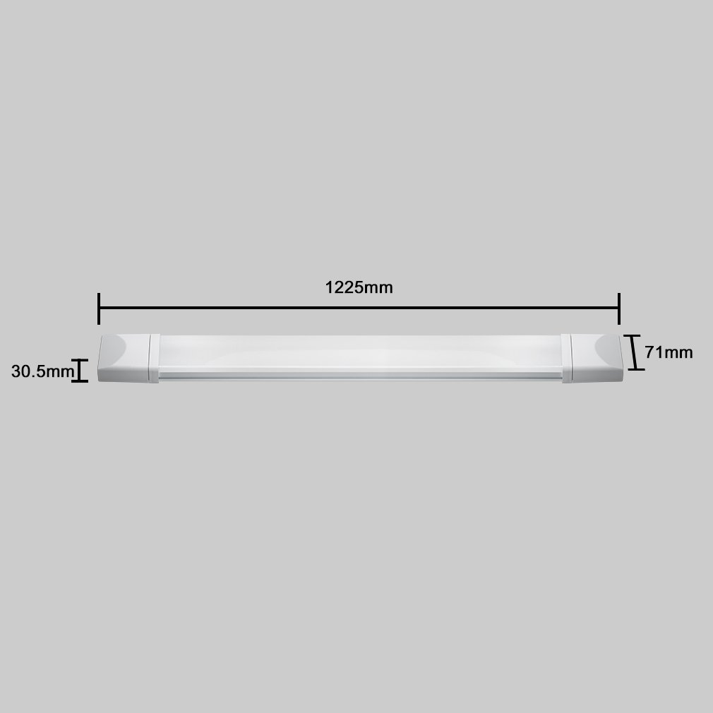 4er J/&C Flache LED Feuchtraumleuchte 60cm 18W Ultraslim Werkstatt Keller Tageslicht 4000k 1400 Lumen IP65 Wasserfest f/ür Einsatz im Aussenbereich geeignet Hobbyraum
