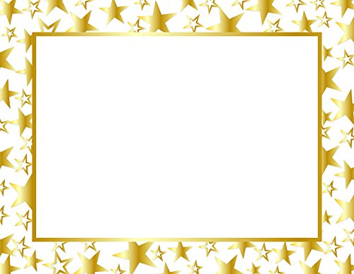 - Great Papers! Twinkle Gold Foil Certificate, 8.5