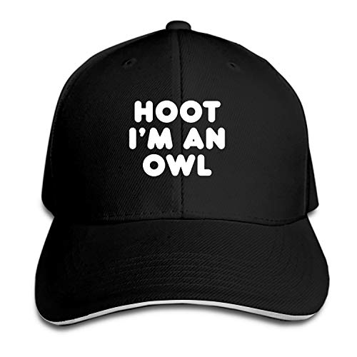 Hoot I'm an Owl Halloween Flat Brim Hats Snapback Cap Plain Caps for Men -