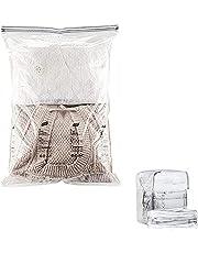 ZFQZKK 1 stuk vacuüm opbergtas kleding compressie opbergtas Premium herbruikbare vacuüm compressie tas met dual-zip ontwerp Geweldig voor kleding, dekbed, beddengoed, kussen
