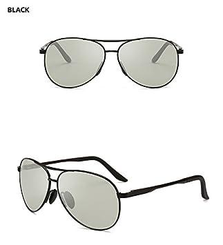 26cf870159a Easy Go Shopping Men Pilot Photochromic Sunglasses Driving Polarized Sun  Glasses Chameleon Driver Safety Night Vision